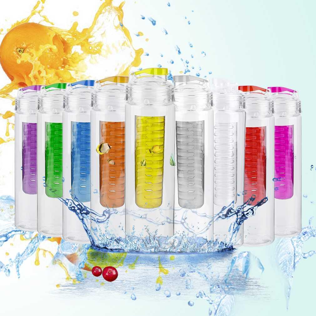 800ml Cycling Sport Fruit Infusing Infuser Water Lemon Bottle Eco-Friendly Lemon Bottle Juice Bicycle Bottle With Lid 9 Colors