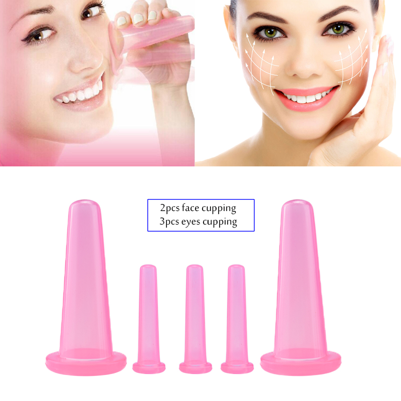 5 Pcs Vacuum Cupping Cans For Massage Ventosa Celulitis Suction Cup Chinese Suction Cups Face Neck Massage Cans Anti Cellulite