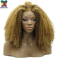 SW CABELLO Voluminoso Rizado Rizado Encaje Sintético GRANDE Súper Completo frente Pelucas Natural Negro Naranja Blonde Envío Parte De Negro mujeres
