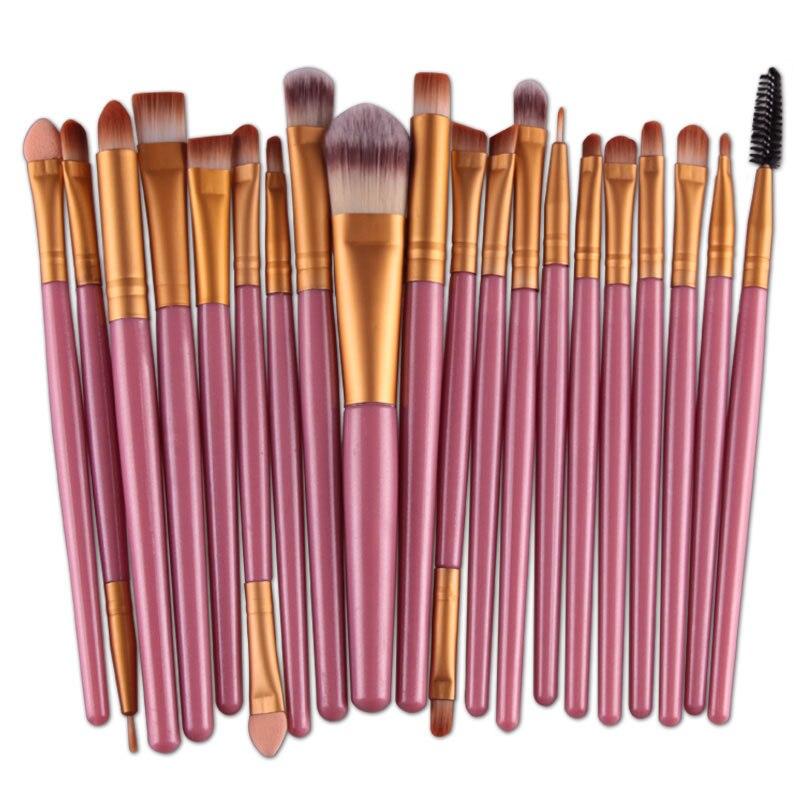 20pcs Eyes Brushes Set Eyeshadow Eyebrow Eyelashes Eyeliner Lip Makeup Brush Sponge Smudge Brush Cosmetic pincel maquiagem (7)