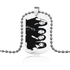 Кулоны с логотипом KPOP для девушек в Корейском стиле, ожерелье с кулоном из нержавеющей стали для мужчин и женщин
