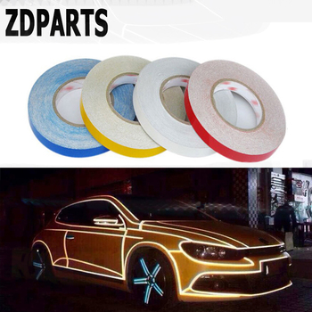 ZDPARTS 5M*1CM Car Warning Reflective Strip Stickers For Mercedes Benz W203 W211 W210 W204 Citroen C5 C4 C3 Seat Leon Jeep Cover image
