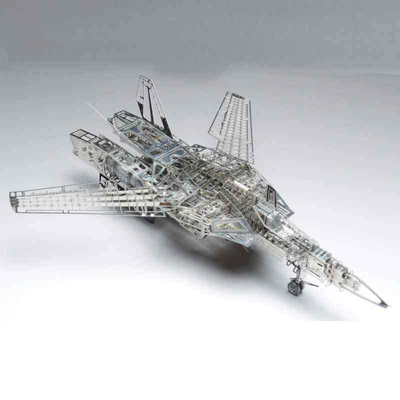 الفضاء قلعة ماكروزس 1/72 Valkyire VF-1A/S الفولاذ المقاوم للصدأ جميع المعادن الجمعية DIY نموذج لغز