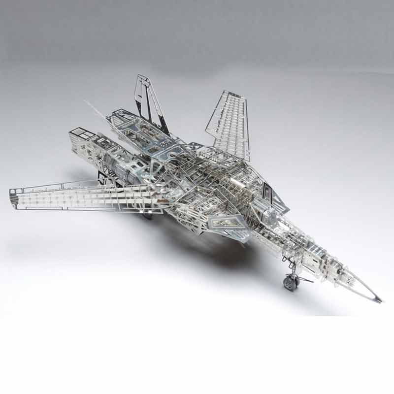 Space Fortress Macross 1 / 72Valkyire VF-1A / S Stainless Steel All-Metal DIY Assembly Model Puzzle manual metal bending machine press brake for making metal model diy s n 20012