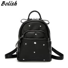купить Mini Women Backpack Fashion Rivet Shoulder Bag Female Crossbody Bag Small School Backpack for Girls Use Cell Phone Pocket по цене 2613.45 рублей
