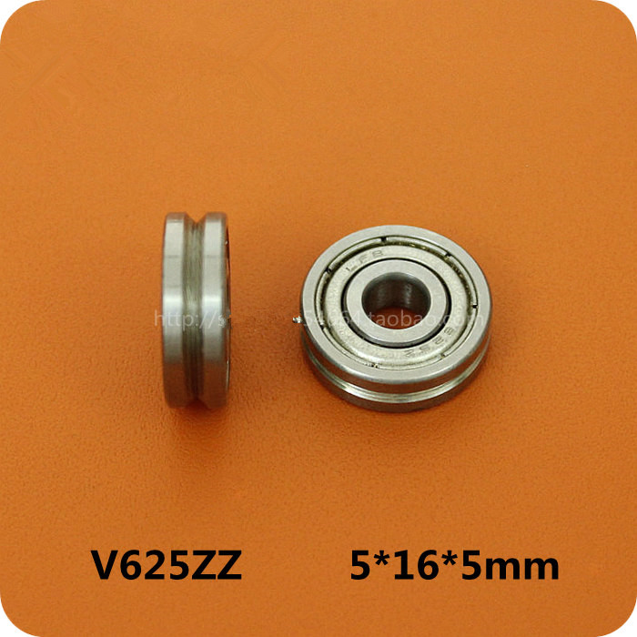Fixmee 5 X 16 X 5mm 0.5mm Deep10PCS V625zz Groove Vgroove HCS Sealed Ball Bearings gcr15 6326 zz or 6326 2rs 130x280x58mm high precision deep groove ball bearings abec 1 p0