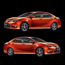 World Datong sport car sticker For Toyota Corolla Levin Both side body auto stickers