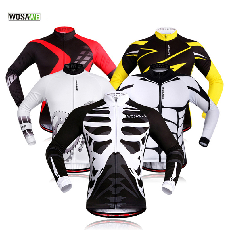WOSAWE Cycling Sets Women Men Long Sleeve Jersey Set Breathable Quick Dry Autumn Summer Sportswears 4D Gel Pad Bike Clothing wosawe men long sleeve cycling jersey 4d gel padded tights