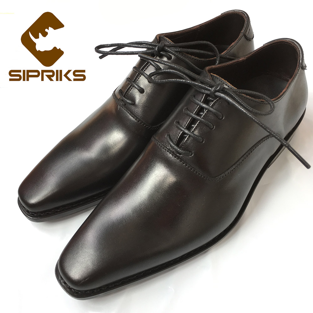 Sipriks mens goodyear welted shoes office boss leather shoes italian mens wingtip dress shoes black leather sole wedding shoes luxury bespoke goodyear welted shoes elegant mens dress shoes italian unique boss wingtips shoes italian grooms wedding shoes