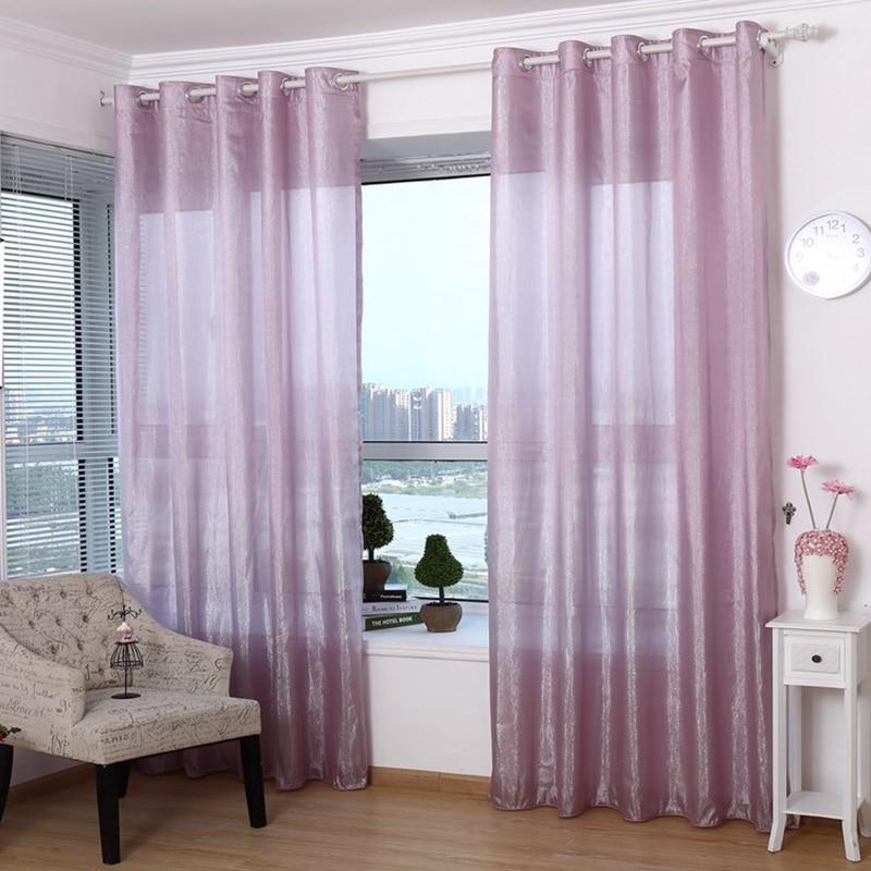 Compra barato cortinas transparentes online al por mayor for Cortinas transparentes salon