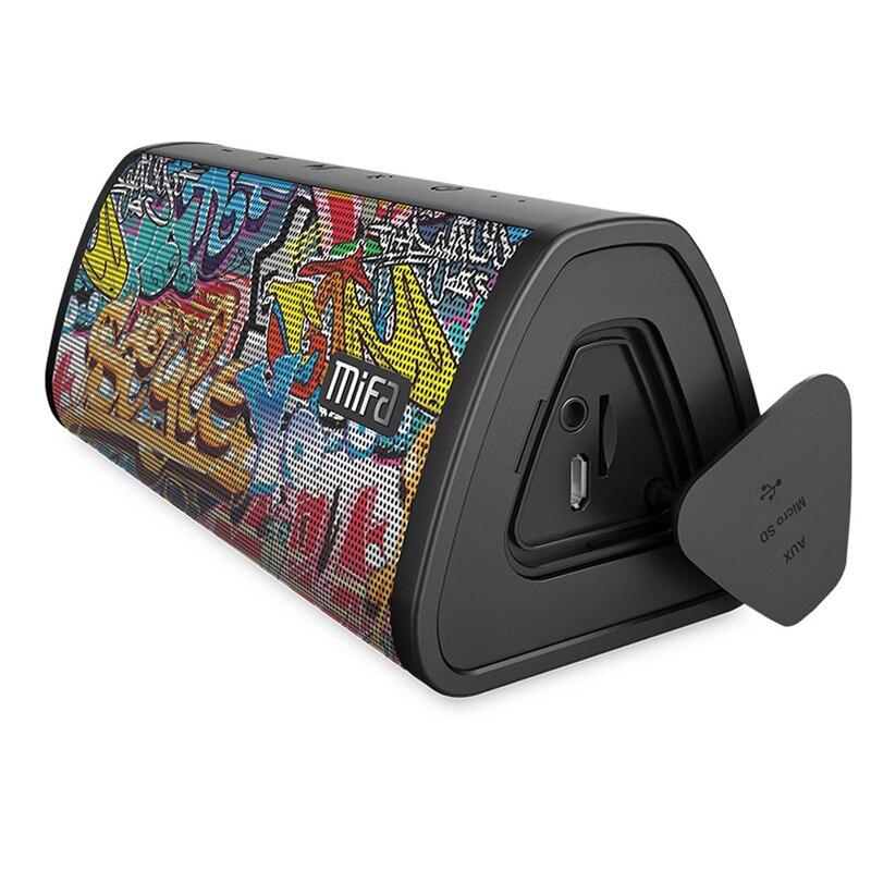 Mifa Altavoz Portátil Bluetooth Altavoz Inalámbrico Portátil con 10w Sistema de Sonido estéreo y Música envolvente Impermeable Altavoz al Aire libre