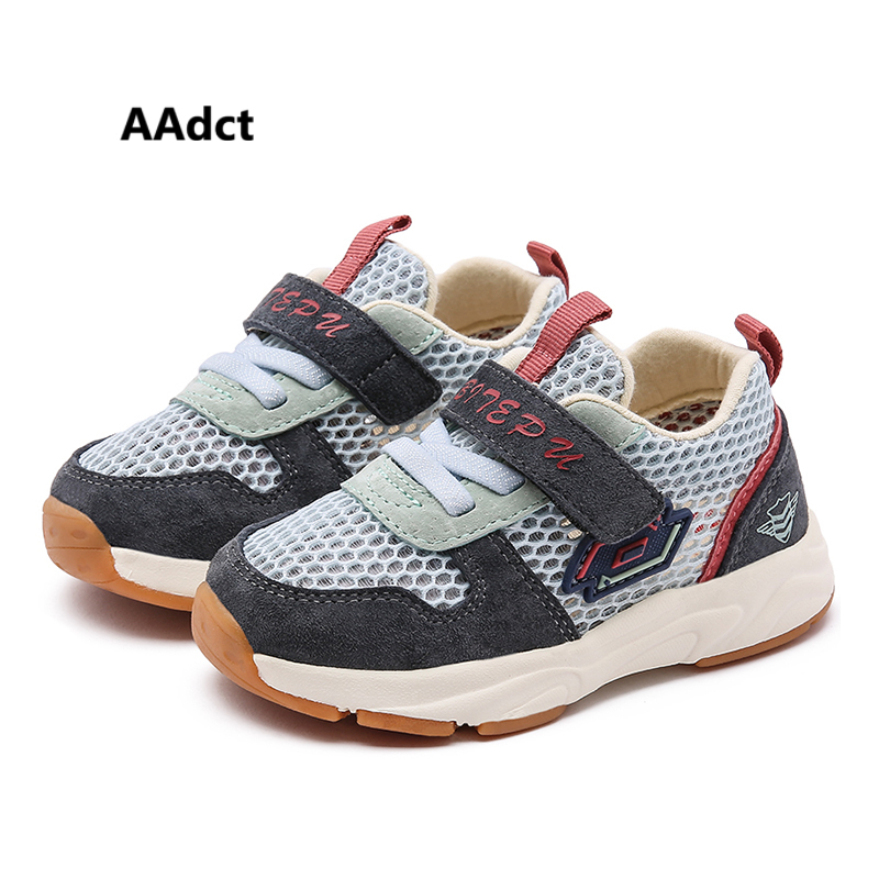 AAdct First Walkers Genuine Leather baby shoes 2019 mesh summer little girls boys toddler shoes running sneakers