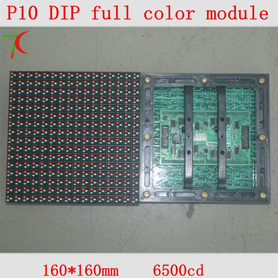 Factory Direct Sales P10 Outdoor DIP Full Color Module For High Brightness Led Display,160mm*160mm 10000dots/m2