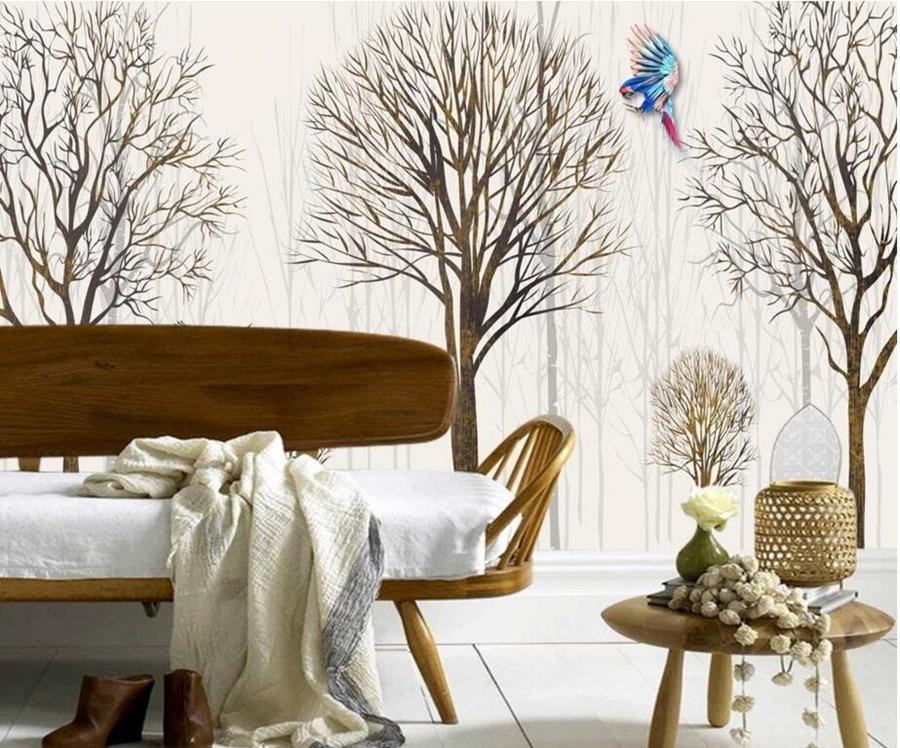 Simple Bedroom Murals popular parrot wallpaper-buy cheap parrot wallpaper lots from