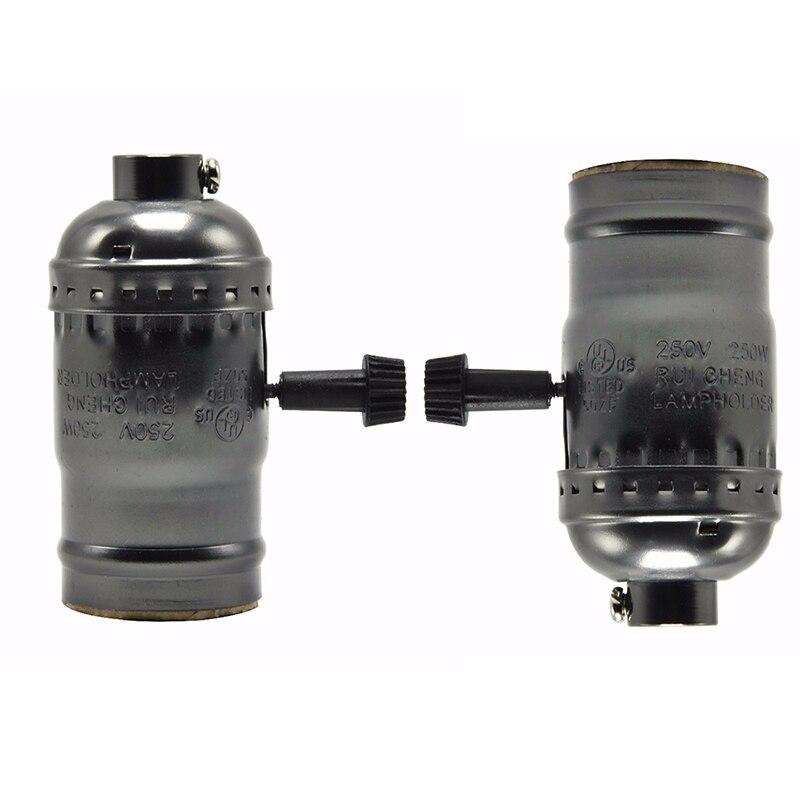 6pcs/lot Vintage aluminum Lamp Base E27 E26 Holder holder retro socket