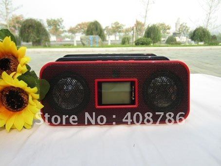 js 925 loudspeaker sound box USB Interface Audio speaker Support SD TF card Li-ion battery FM Radio