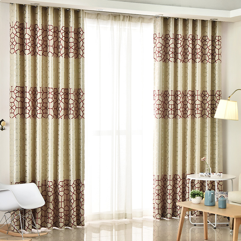 awesome astonishing as interior orange well drapes ideas floral together brown work that with white cream design curtain geometric panels