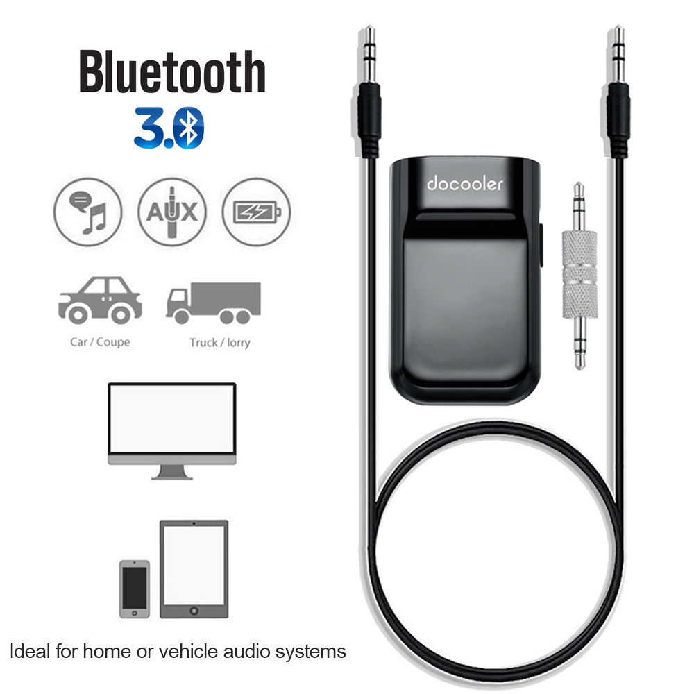 Bluetooth Music Streaming Kit Ipod Media Interface Cable: Docooler Bluetooth Receiver Hands-free Car Kits 3