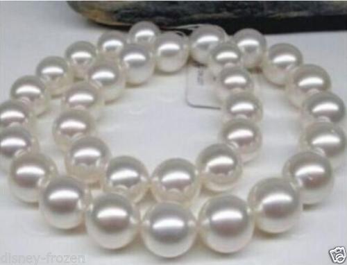 noble women gift GOLD CLASP HHUGE natural 10-11MM PERFECT ROUND SOUTH SEA WHITE PEARL NECKLACEnoble women gift GOLD CLASP HHUGE natural 10-11MM PERFECT ROUND SOUTH SEA WHITE PEARL NECKLACE