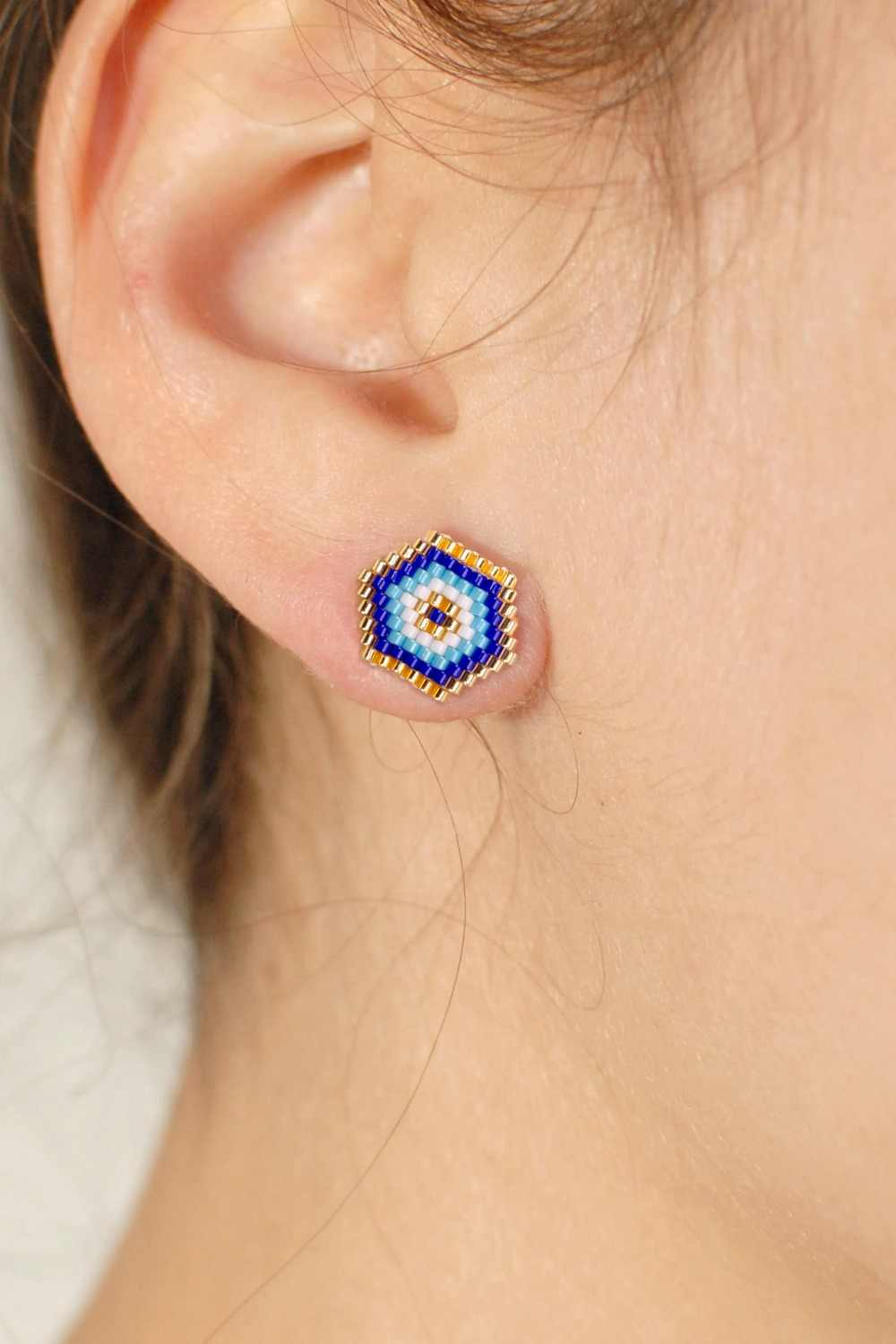 Go2boho Evil Eye Stud Earrings MIYUKI Delica Earring For Women Insta Fashion Turkish Evil Eye Handmade Jewels Gift Dropshipping