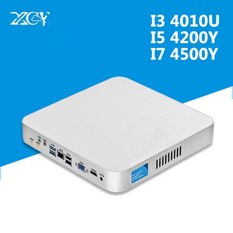 XCY Intel Core I5 4200U I3 4010U USB3.0 Micro Computer Windows HTPC Wifi VGA HDMI Tables Computer Office Mini PC