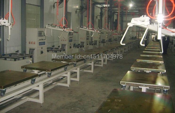 PLC-1000 линия порошкового покрытия, реквмент порошкового покрытия, линия порошковой окраски