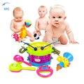 XFC Novo 5 pçs/set Crianças Instrumento Musical Tambor de Mão Do Bebê Martelo Chocalhos Crianças Brinquedo Chrismas Presente Do Xmas