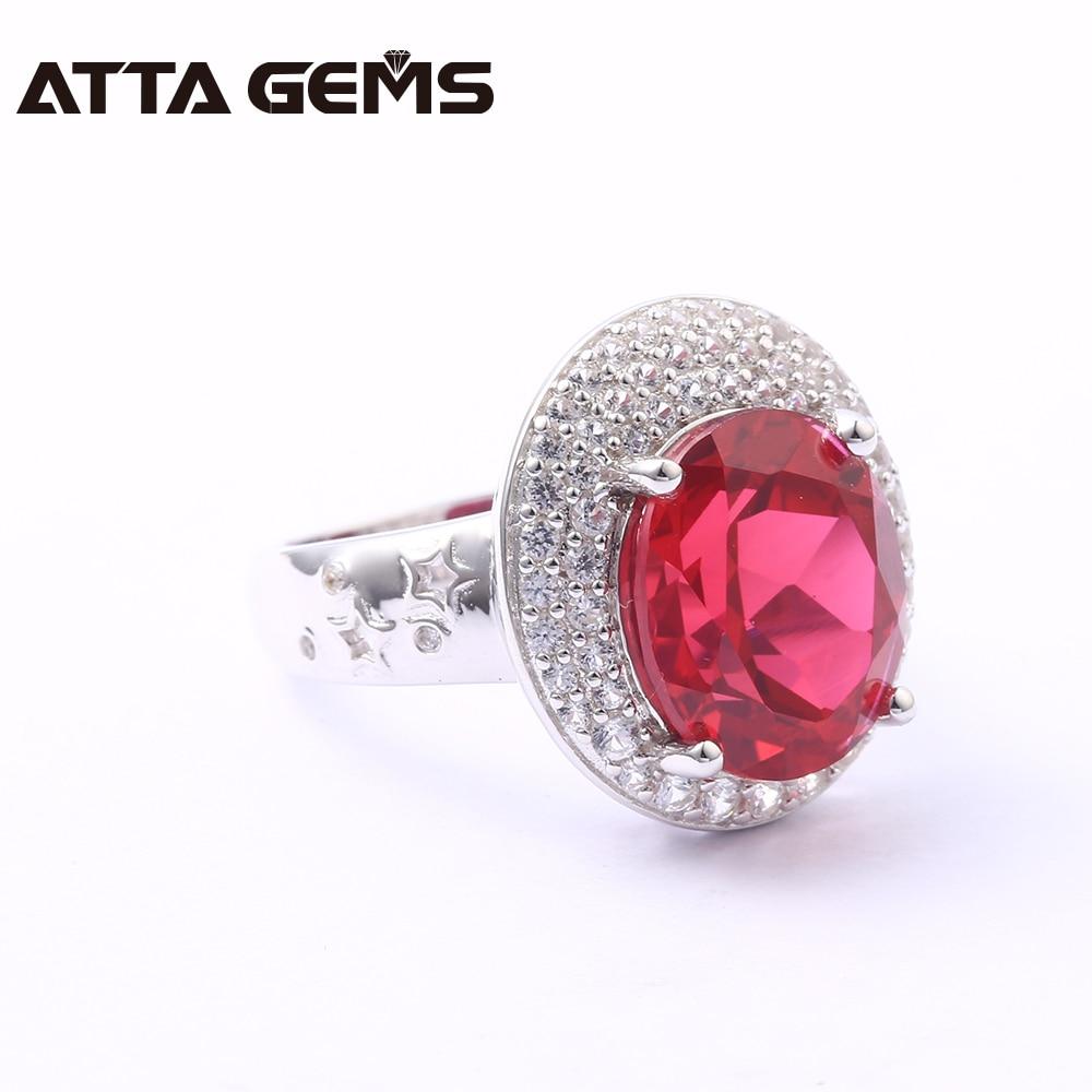 Bagues en argent Sterling rubis pour femmes 8 Carats créé rubis bijoux en argent massif Style classique pour les femmes de fiançailles de mariage - 5