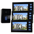 DIYSECUR 7 inch LCD Video Door Phone Intercom Doorbell Touch Key Camera Monitor Security System Kit 125KHz RFID Keyfobs
