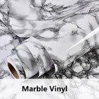 Modern Waterproof Vinyl Self adhesive Wallpaper Marble Contact Paper Kitchen Cupboard Shelf Drawer Liner Wall Sticker