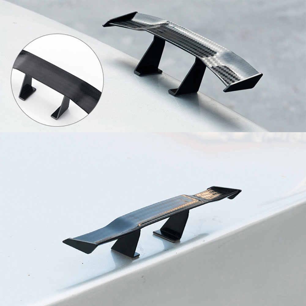 カーボンルック車ミニ羽スモールモデル装飾自動車の付属品黒青赤白グレー GT スタイルウイングレット