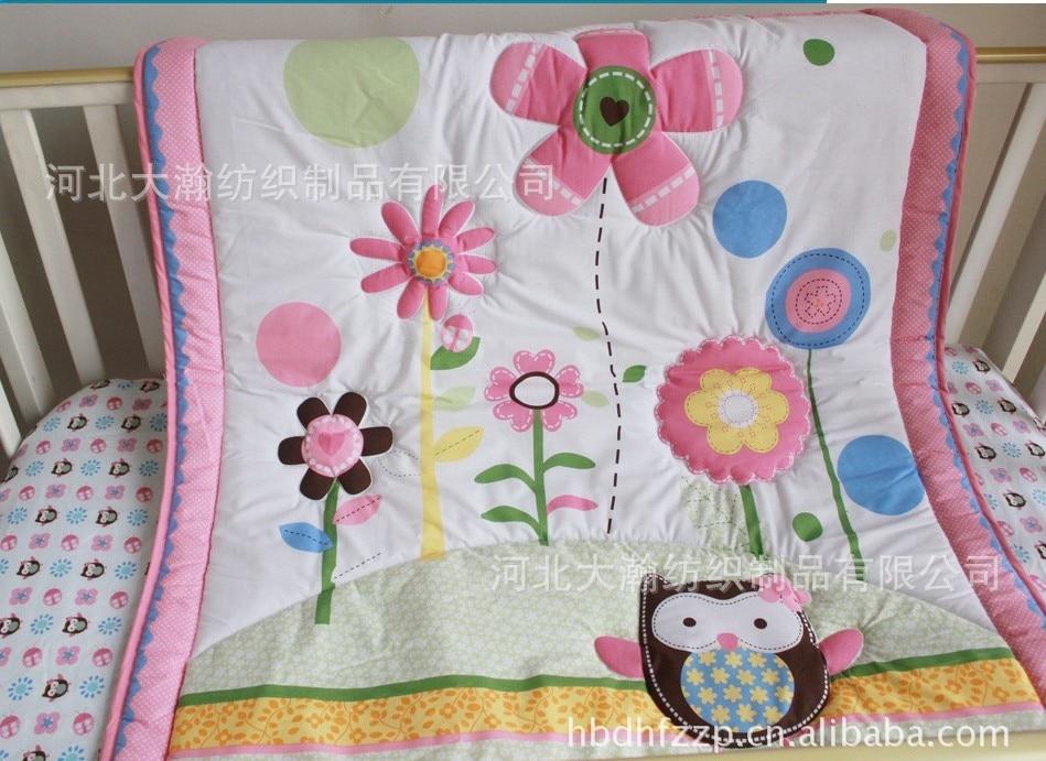 Cotton baby quilt play mat nursery bedding applique
