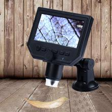 Discount! Portable 1-600x G600 Digital Microscope 4.3Inch HD OLED Display with LED Light Measurement & Analysis Instruments