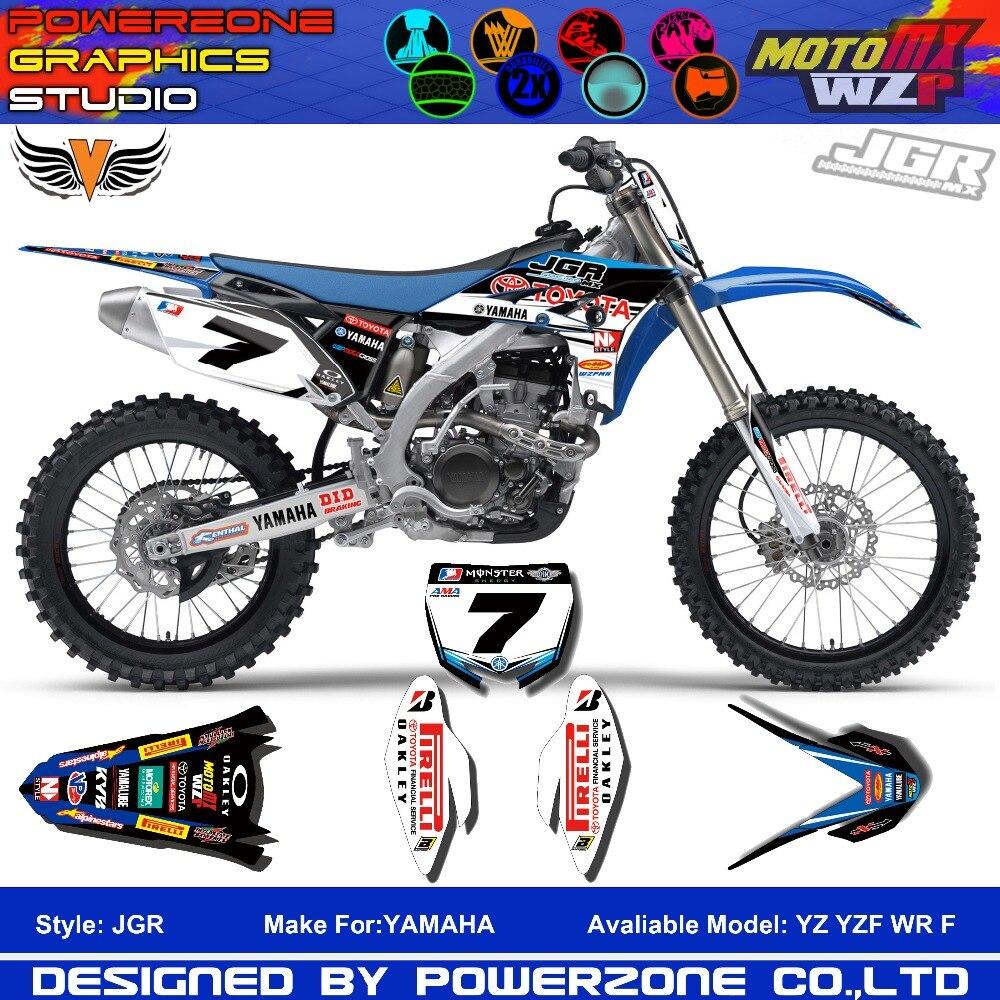 Bike sticker design online - Custom Team Graphics Backgrounds Decals 3m Customized Sticker Jgr Yzf Wr F 1996 To 2016 Motorcylce Dirt Bike Mx Racing Parts