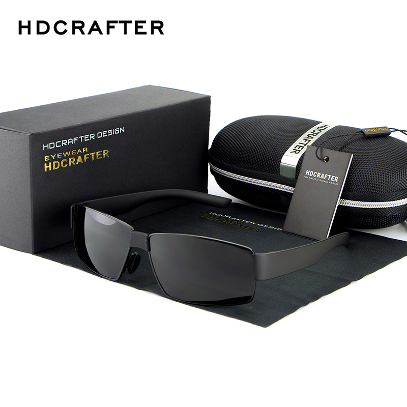 HDCRAFTER Fashion Sunglasses Brand Designer Men s Sunglasses Polarized Driving Sun Glasses for Men UV400 Glasses
