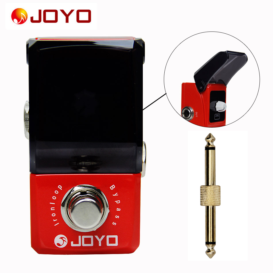 JOYO Ironman series mini pedals JF-329 Iron loop Guitar pedal+1 pc pedal connector guitar effect pedal joyo jf 329 iron loop digital phrase looper guitar effect pedal true bypass guitar pedal guitar accessories