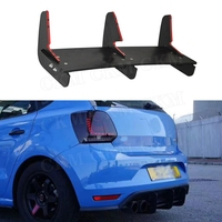 For Polo GTI Rear Lip Spoiler Trim Fins Shark Cover For Volkswagen VW Polo GTI 2015 2016 Bumper Protector Car Styling