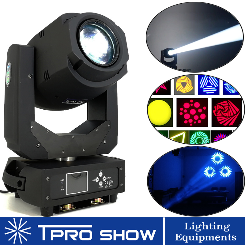 Moving Head 200W LED Lyre Beam Wash Spot Light Prism Rotating Gobo Disco Light Projector Machine