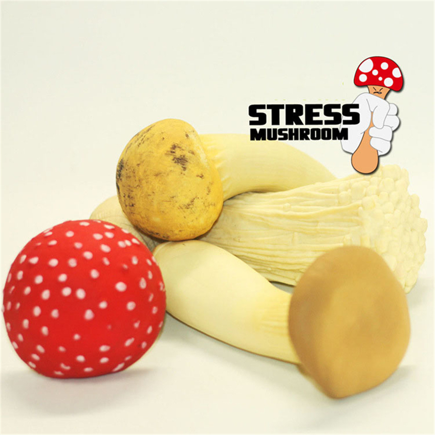 Eva2king Squeeze Vegetables Mushroom To Reduce Stress Funny Soft Stretchable Squishy Toys For Chidlren & Adults Christmas Gifts
