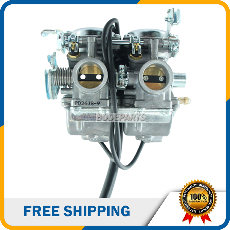 PD26 Motorcycle carburetor 26mm double cylinder carbureter Twin Cylinder for Honda 250cc Engine Motorcycle ATV Quad Go Kart недорого