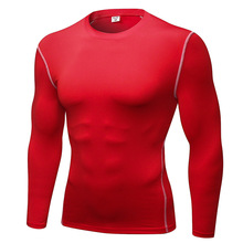 2019 New Quick Dry Compression Tight Jersey Fitness Gym Sports Running shirt Bodybuilding Long Sleeve Black T-Shirts Men T Shirt new quick dry running shirt men bodybuilding sport t shirt long sleeve compression top gym t shirt men fitness tight rashgard