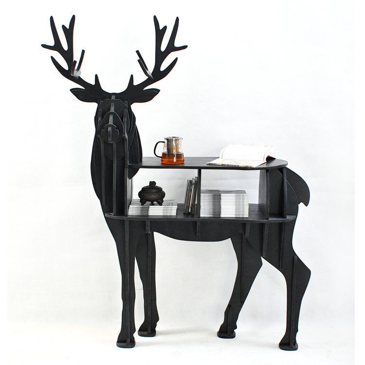 Aliexpress.com : Buy FREE SHIPPING Christmas Deer Table European DIY Arts  Crafts Home Decorative Elk Wood Craft Gift Desk Self Build Puzzle Furniture  From ...