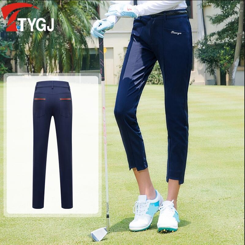 Vestuário de Golfe Luvas de Golfe para Mulheres Calças de Tênis Primavera Verão Sportswear Calças Capris Conforto Respirável Leve Magro 2019