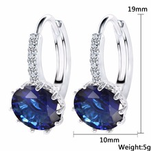 12 Colors Round With Cubic Zircon Charm Flower Stud Earrings