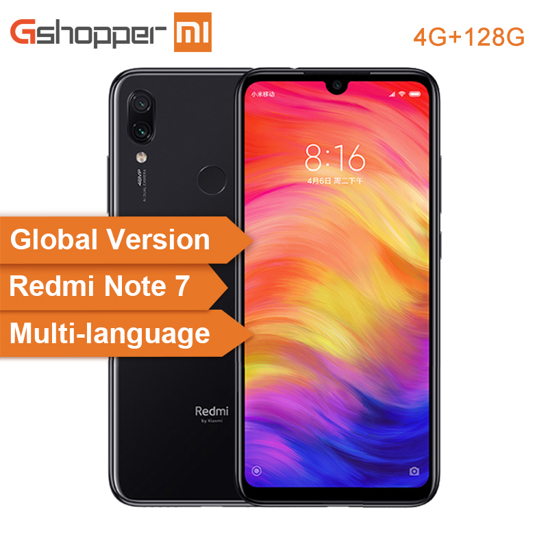Global Version Xiaomi Redmi Note 7 4GB 128GB Mobile Phone Snapdragon 660 Octa Core 4000mAh 6