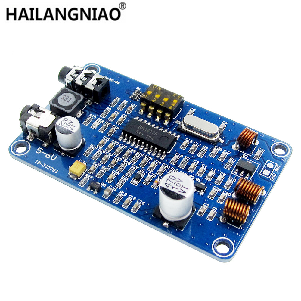 High Stability Frequency! <font><b>BH1417</b></font> 200M 0.5W Digital Radio Station PLL Wireless Two Channel Stereo FM Transmitter Module 5-6V DC image