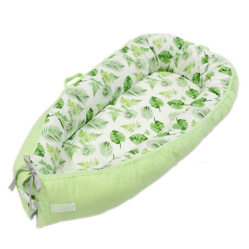 80*50 см детское гнездо кровать портативная кроватка дорожная кровать Младенческая Детская Хлопковая Колыбель для новорожденного Детская кровать люлька бампер - Цвет: BabyNest-C5