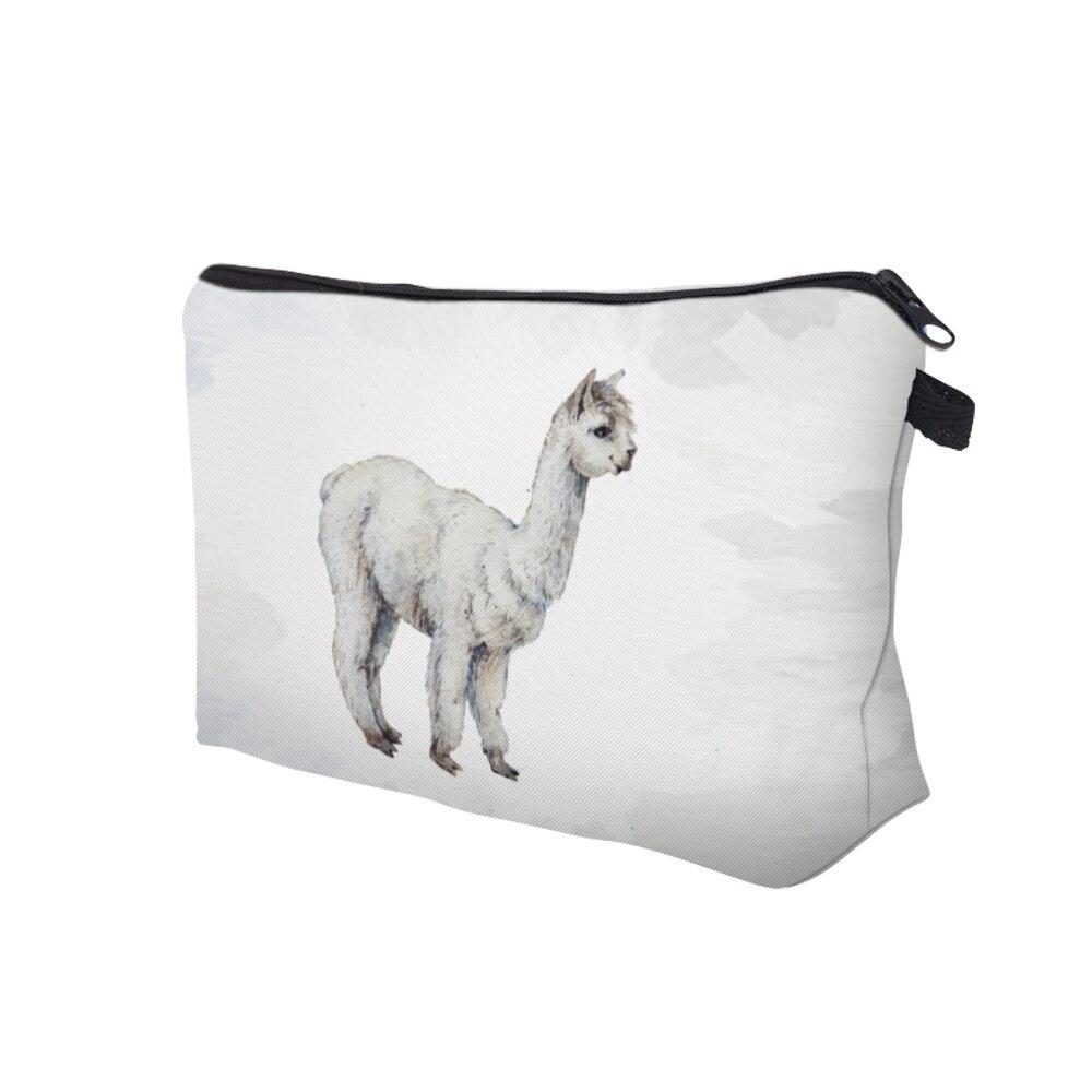 be1c3360 Compre Deanfun Impermeable Vivid Impreso Llama Bolsa De Cosméticos ...