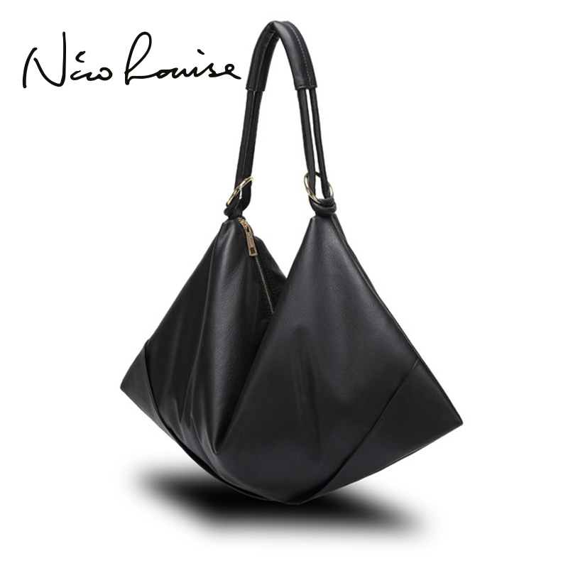 Large Slight Women Hobo Leather Shoulder Bag Fashion Big Casual Black Leisure Shopping Bags Sac A Main Femme De Marque Bolsa стоимость