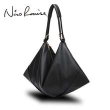 Large Slight Women Hobo Leather Shoulder Bag Fashion Big Casual Black Leisure Shopping Bags Sac A Main Femme De Marque Bolsa